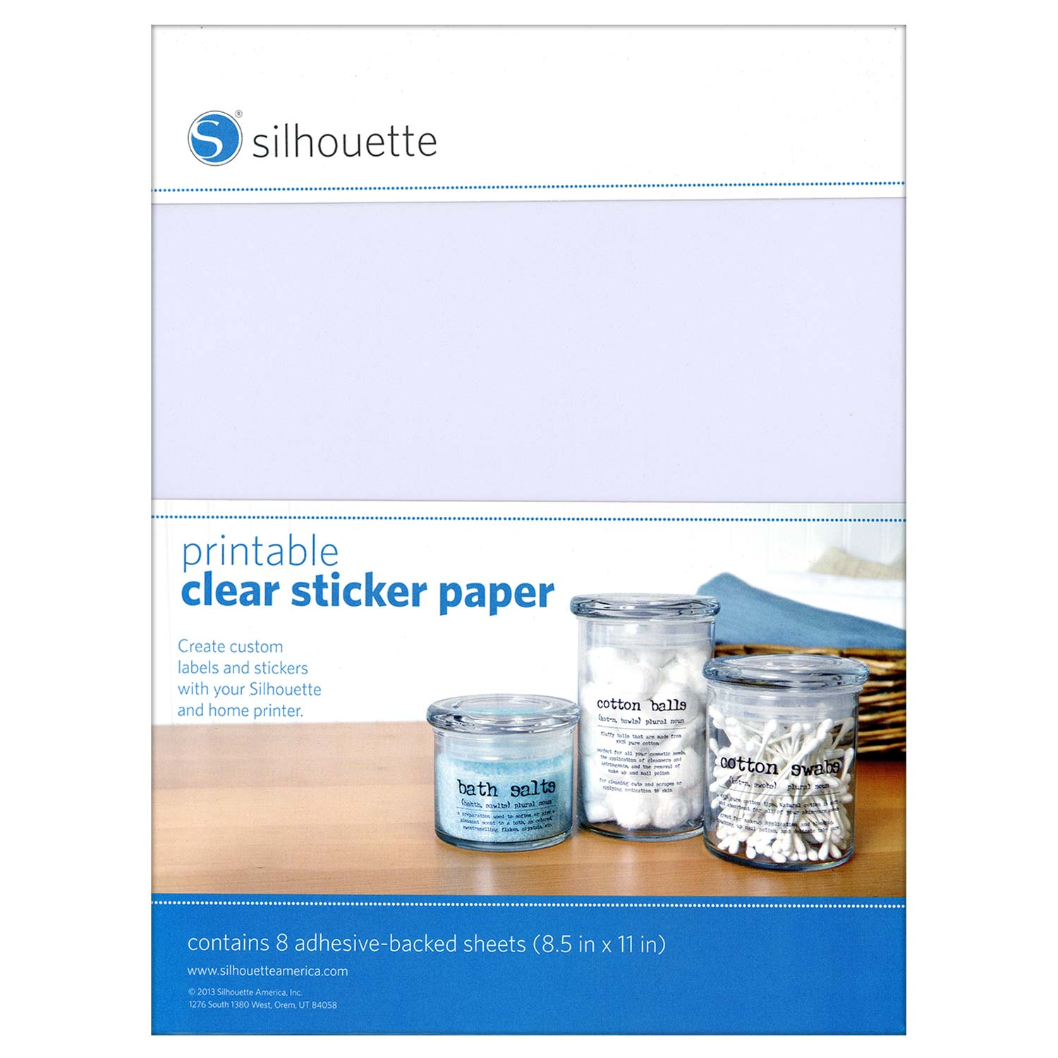 Enterprising image with clear printable sticker paper