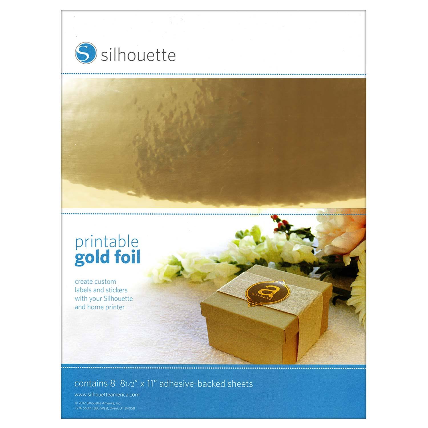 photograph about Printable Gold Foil named Silhouette Printable Gold Foil