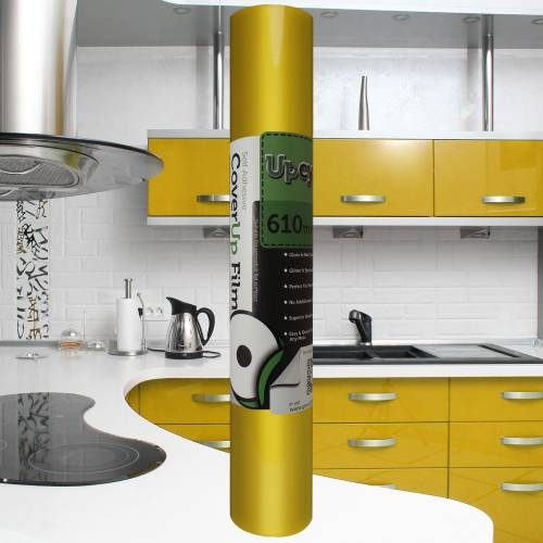 Bright Yellow Gloss Upcycle Vinyl Film