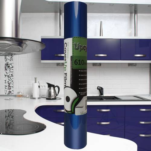 Dark Blue Gloss Upcycle Vinyl Film