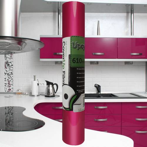 Hot Pink Gloss Upcycle Vinyl Film