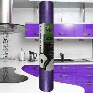 Light Purple Glitter Upcycle Vinyl Film