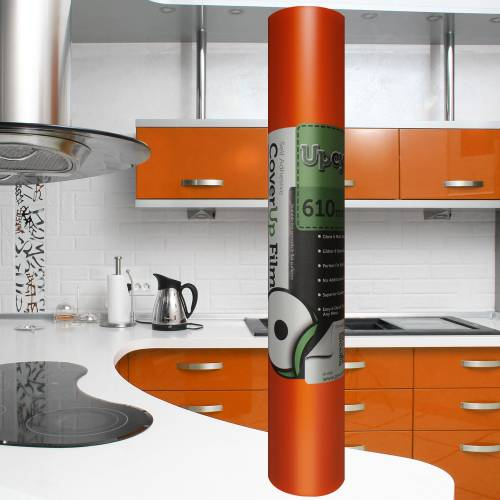 Orange Matt Self Adhesive Upcycle Film