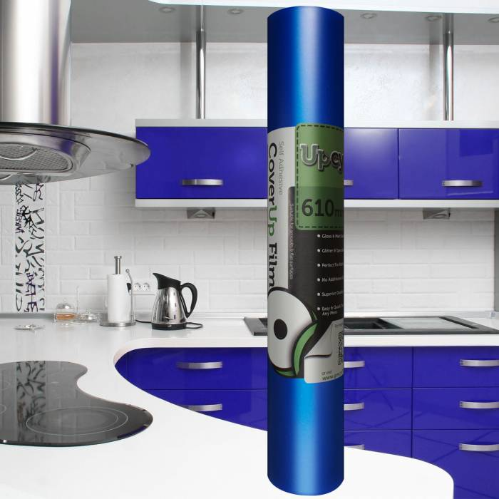 Vivid Blue Matt Self Adhesive Upcycle Film