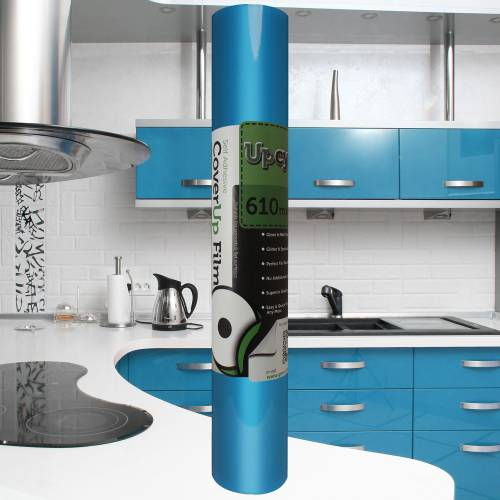 Olympic Blue Gloss Upcycle Vinyl Film