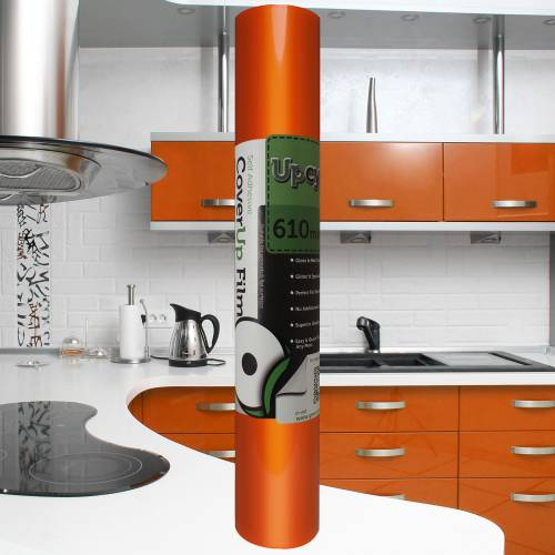 Orange Gloss Upcycle Vinyl Film