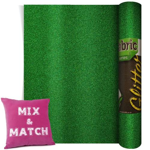 Poli-Flex Pearl Glitter Green 220mm x 500mm