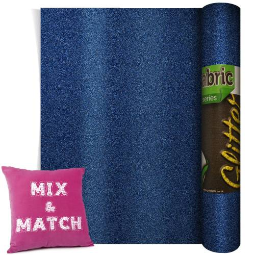 Poli-Flex Pearl Glitter Navy Blue 220mm x 500mm