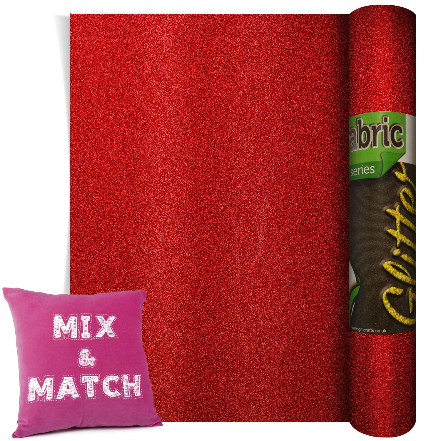 Poli Flex Pearl Glitter Red 500mm X 1m Gm Crafts