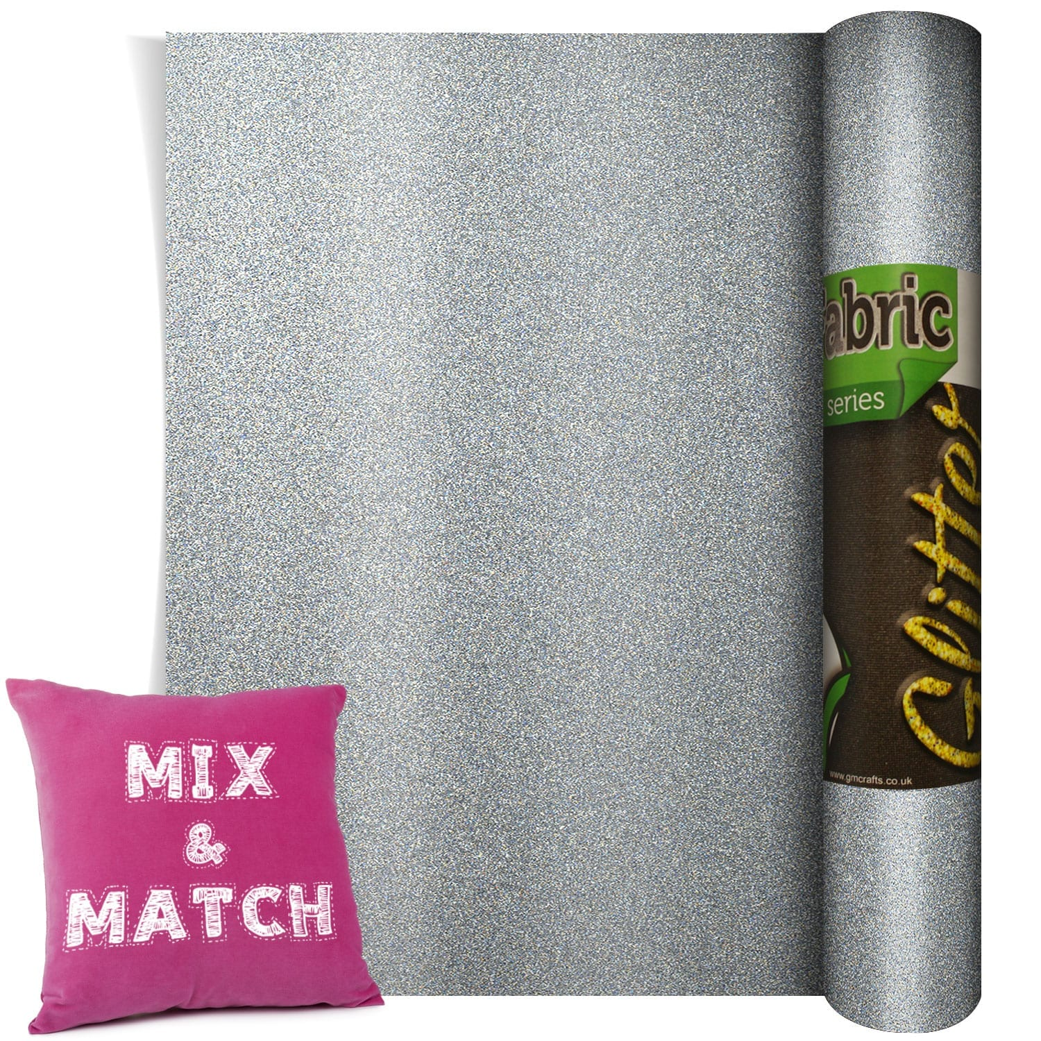 Poli Flex Pearl Glitter Silver 220mm X 500mm Gm Crafts