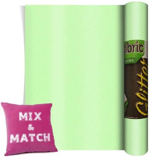 Neon Green Glitter HTV