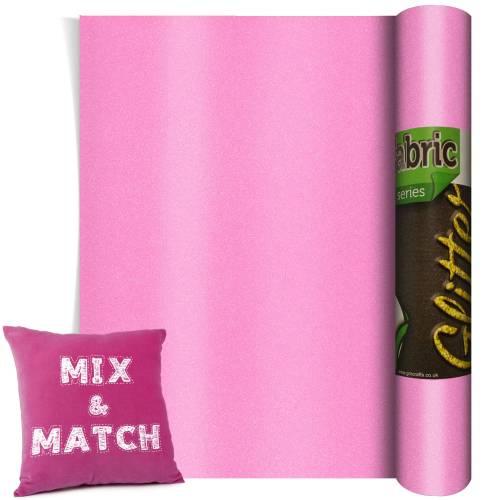 Neon Pink Glitter HTV