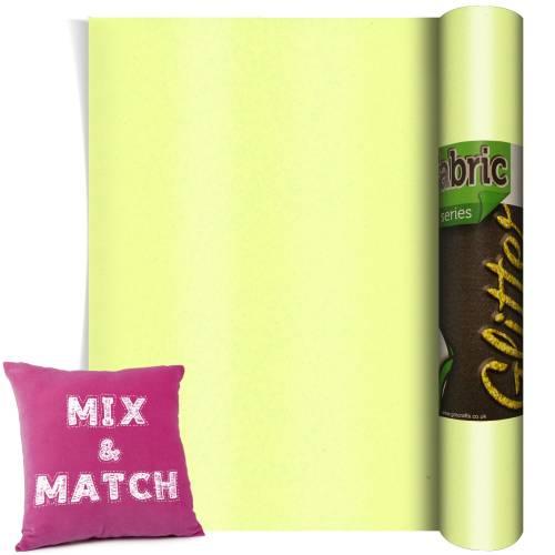 Neon Yellow Glitter HTV