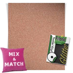 Rose Gold HTV Glitter Sheets From GM Crafts
