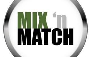mix and match single logo