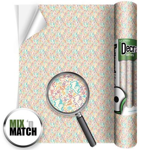 Elephant Beige Self Adhesive Patterned Vinyl
