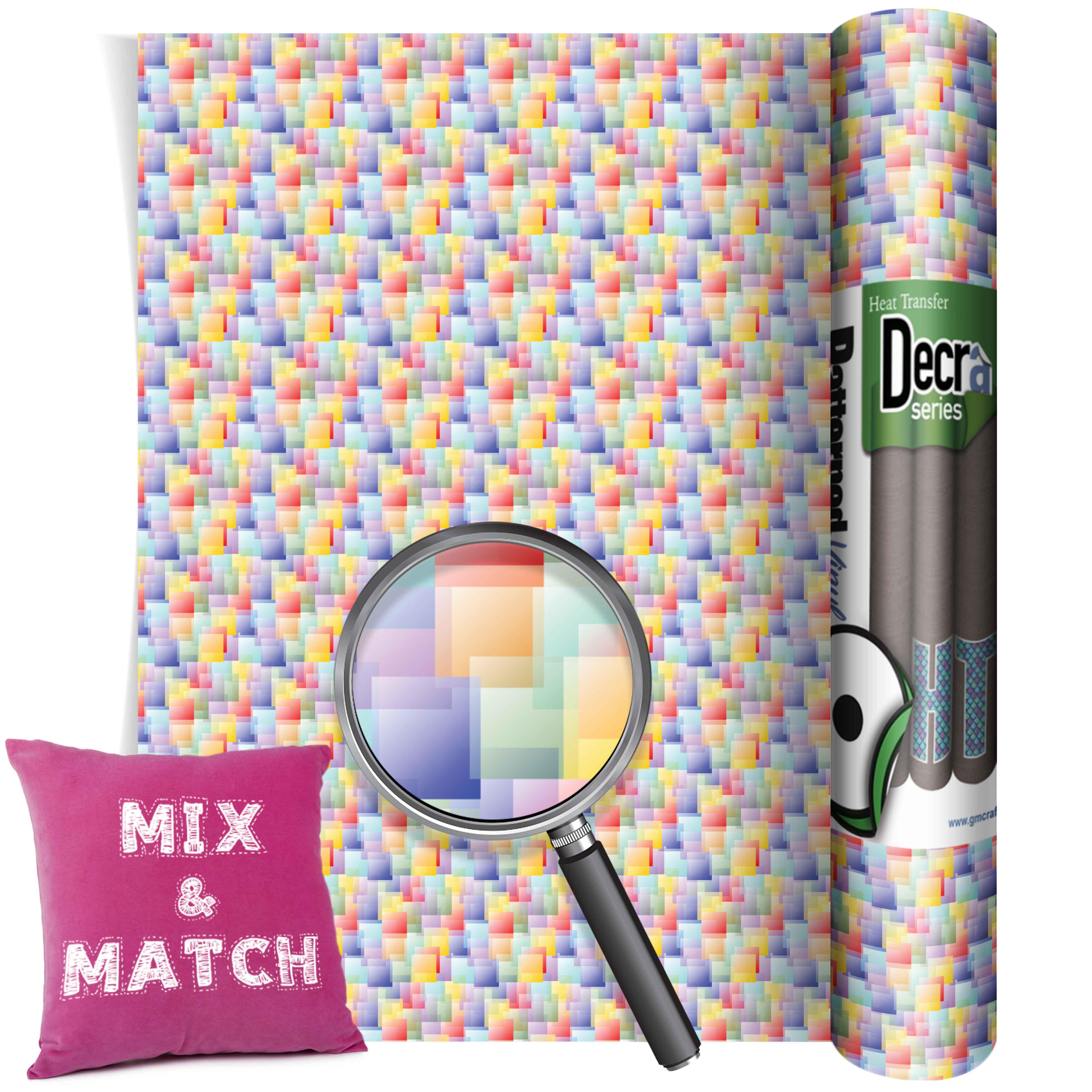 Cubes Multicolour Htv 305mm X 480mm Gm Crafts