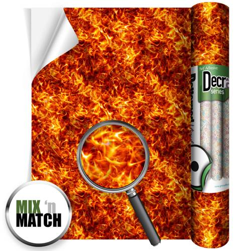 Fireball Orange Decra Self Adhesive