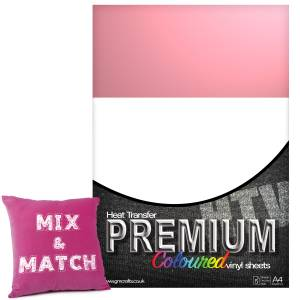 Baby Pink Premium Coloured HTV Textile A4 Packs From GM Crafts