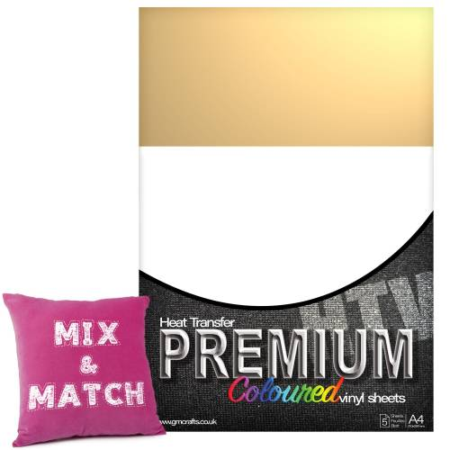 Beige Premium Coloured HTV Textile A4 Packs From GM Crafts