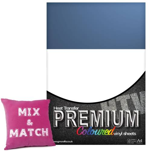 Lilac Premium Coloured HTV Textile A4 Packs From GM Crafts