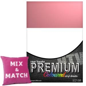 Magenta Premium Coloured HTV Textile A4 Packs From GM Crafts