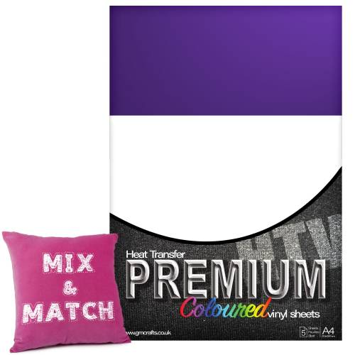 Purple Premium Coloured HTV Textile A4 Packs From GM Crafts