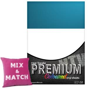 Sapphire Premium Coloured HTV Textile A4 Packs From GM Crafts