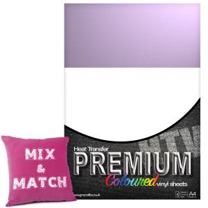 Violet Premium Coloured HTV Textile A4 Packs From GM Crafts