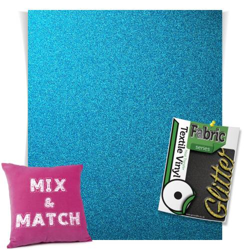 Blue HTV Glitter Sheets From GM Crafts