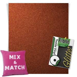 Bronze HTV Glitter Sheets From GM Crafts