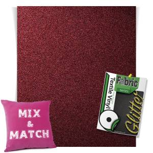 Burgundy HTV Glitter Sheets From GM Crafts