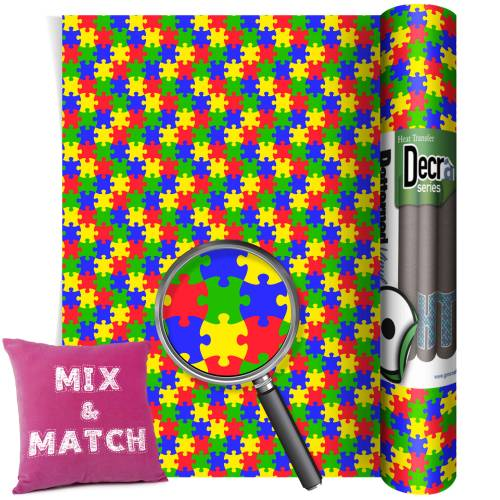 Multi Colour Jigsaw HTV From GM Crafts