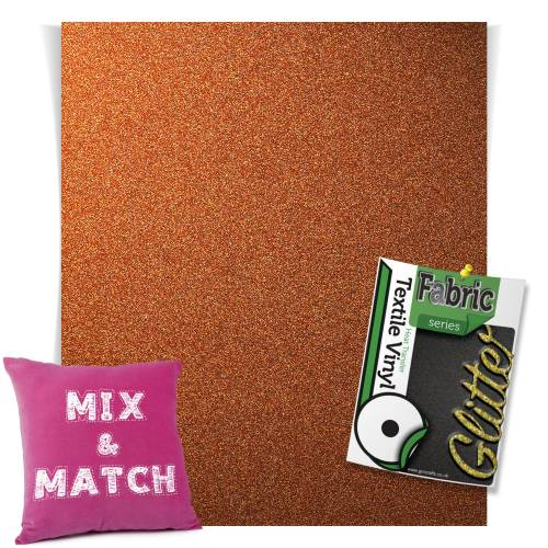 Copper HTV Glitter Sheets From GM Crafts