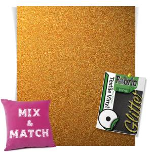 Dark Gold HTV Glitter Sheets From GM Crafts