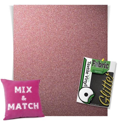 Dusky Pink HTV Glitter Sheets From GM Crafts