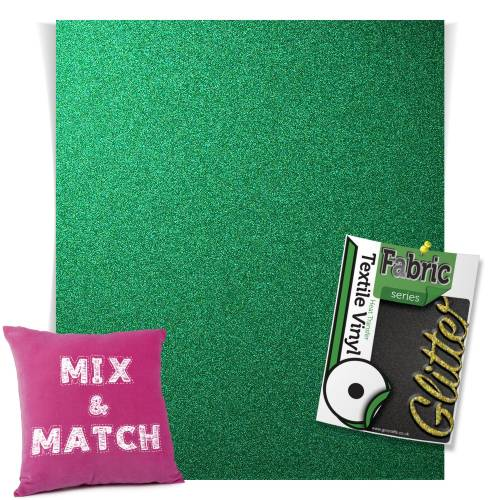 Emerald HTV Glitter Sheets From GM Crafts