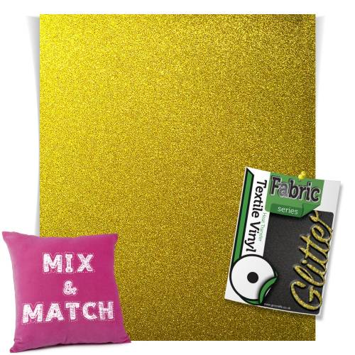 Gold HTV Glitter Sheets From GM Crafts