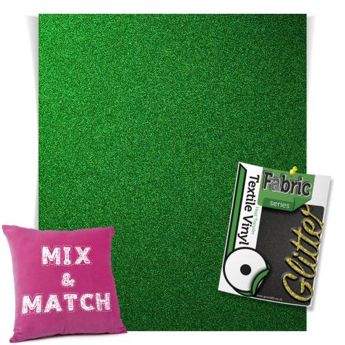 Green HTV Glitter Sheets From GM Crafts