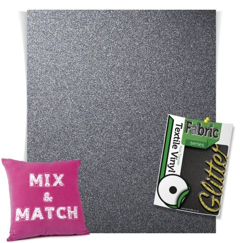 Grey HTV Glitter Sheets From GM Crafts