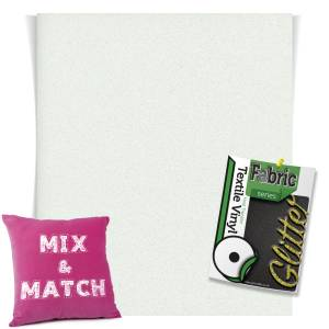 Holo White HTV Glitter Sheets From GM Crafts