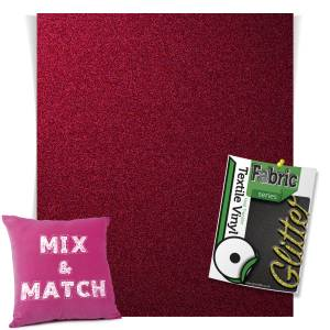 Hot Pink HTV Glitter Sheets From GM Crafts