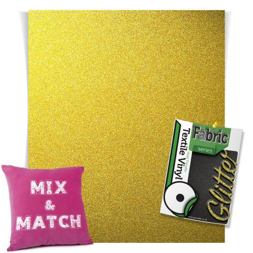 Light Gold HTV Glitter Sheets From GM Crafts