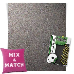 Multicolour HTV Glitter Sheets From GM Crafts