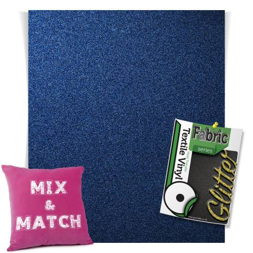 Navy Blue HTV Glitter Sheets From GM Crafts