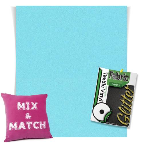 Neon Blue HTV Glitter Sheets From GM Crafts
