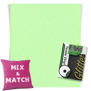 Neon Green HTV Glitter Sheets From GM Crafts