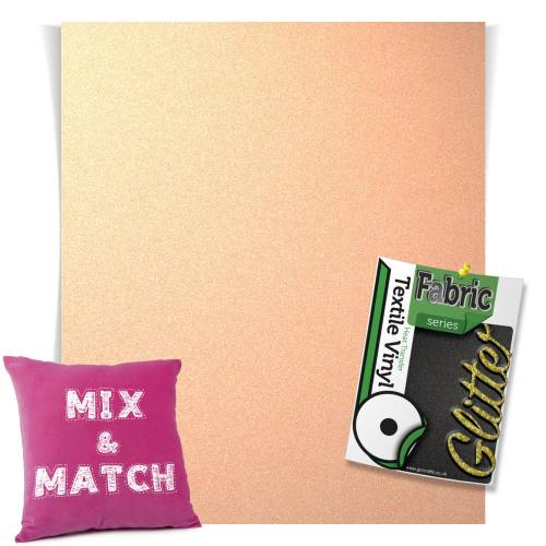 Neon Orange HTV Glitter Sheets From GM Crafts
