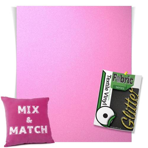 Neon Pink HTV Glitter Sheets From GM Crafts