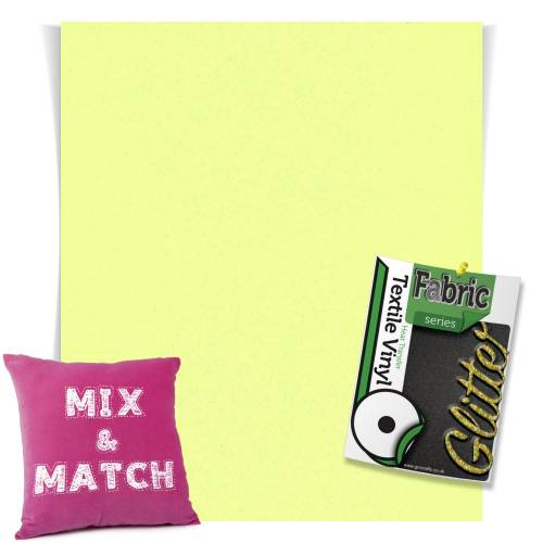 Neon Yellow HTV Glitter Sheets From GM Crafts